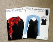Marilynn Sweater & Floribunda Scarf crochet patterns