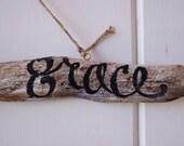 Amazing Grace Driftwood Sign - Summer - Seashore - beach - inspirational