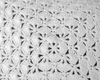 Square White Baby Blanket