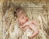 Shabby Chic Baby Girl Photo Prop Ivory Baby Blanket Children