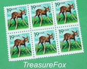 Baby Deer Fawn .. Vintage MINT 19 cent postage stamps .. Pack of 20. Bambi themed birthday parties, baby announcements, Baby showers