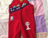 Cars and Trucks Overalls 3-6 Months