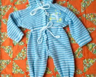 60s Baby Sleeper 0-6 Months