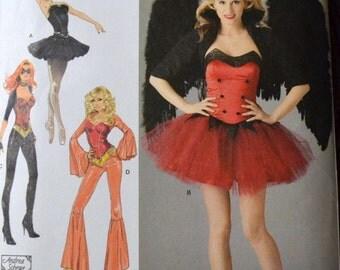 Costume Sewing Pattern Simplicity 2067 Misses' Ballerina Disco Dancer Uncut Complete