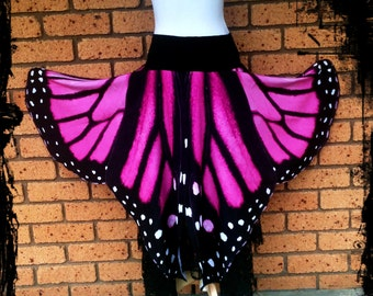Pink and Black Butterfly Wings Skirt - Custom made for you