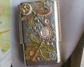 Victorian Style Dragonfly  Cigarette Box/Unique ID Wallet/Business Card Holder