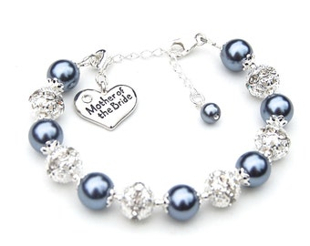 Mother of the Bride Gift Bracelet, Mother of the Groom Bracelet, Romantic Wedding, Mother of the Groom Gift, Mothers Gift