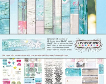New from 7 Dots Studio - Verano Azul Collection Kit