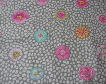 2 yds Guinea Flower in grey from the Kaffe Fassett collection