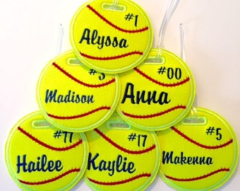 Personalized softball bag tag baseball, soccer, golf, volleyball, football, basketball