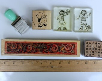 NEW Rubber Stamp Lot. Halloween. Christmas. 13 Pieces