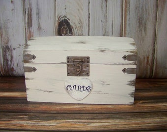 Wedding Card Box, Beach Wedding, Shabby Chic Card Box, Slotted Card Box, Rustic Card Box, Card Holder, Wedding Decoration,