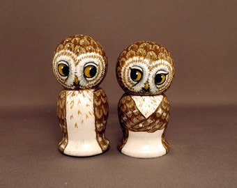 Browl Owl Cake Wedding Toppers
