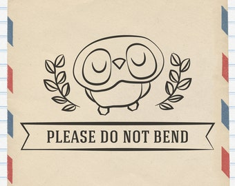 Rubber Stamp - Owl Please Do Not Bend