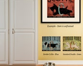 Dog agility supply company poodle scottie border collie unframed artwork giclee archival signed artists print by Stephen Fowler