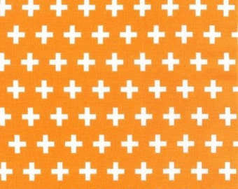 Remix fabric, Remix plus in orange, Orange fabric, Ann Kelle for Robert Kaufman, Remix Plus in Tangerine, You choose the cut