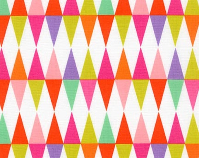 Sealed With a Kiss fabric by Robert Kaufman and Fabric Shoppe - Triangles in Bright- You Choose the Cut