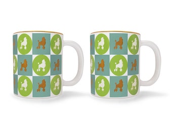 SPECIAL EDITION: Set of 2 Poodle Mugs with Gold Trim