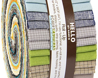 """Robert Kaufman SHIMMER CURATED Roll Up 2.5"""" Precut Fabric Quilting Cotton Strips Jelly Roll RU-471-40"""
