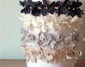 Lace Headband, Navy, Ivory, Pewter, Blush, Flower Girl or Special Occasion