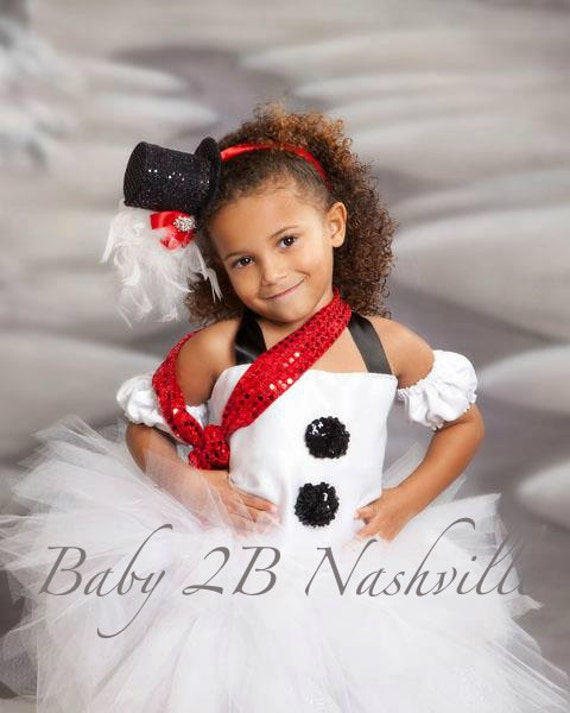 Baby Basic Winter Snowman Tutu Dress Snowman Costume
