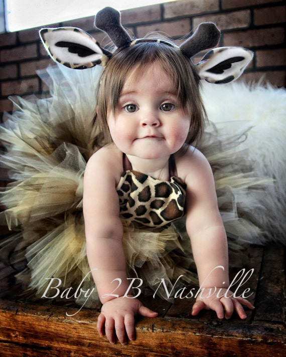 Safari Giraffe Costume With Leggings Birthday Tutu  Pageant Outfit of Choice,  Brown Giraffe Tutu Baby - Girls 8