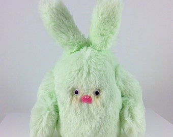 Mini Mad Eyed Bunny Monster Plush Key Chain