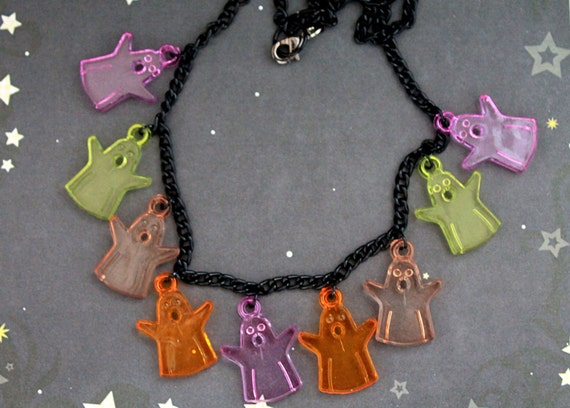 Cute little ghosts necklace cute and simple halloween fall autumn