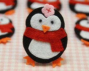 Set of 6pcs handmade felt penguin--black (FT900)