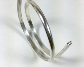 half Round,8 gauge, sterling silver wire, 1 ft, cuff wire,bangle wire, ring wire, 3.25mm x 1.63 mm