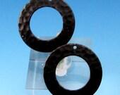 Hammered Ring, Matte Black, 2 Pc. MB57