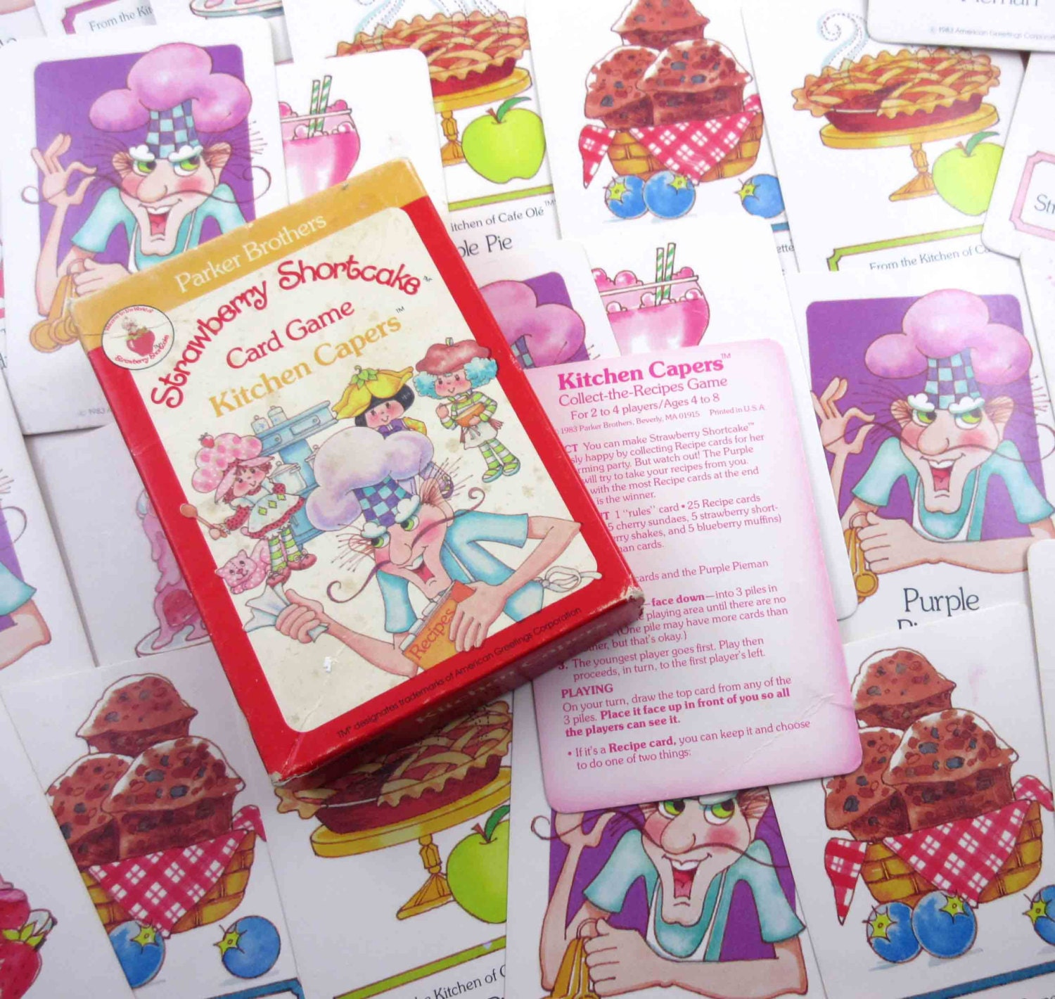 Vintage 1980s Strawberry Shortcake Card Game Kitchen Capers By