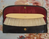 Vintage Ivory Celluloid Clothes Brush by E. Dupont and Case//Made in France