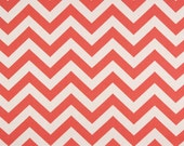 Destash CORAL CHEVRON Premier Prints Fabric by the Yard. Twill Cotton Home Decor. More than 1 yard. Ready to Ship. Sewing Fabric. Crafting