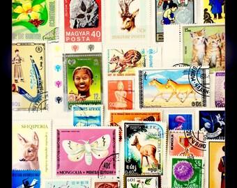 Vintage Postage Stamp Set 07