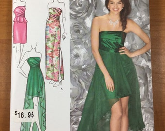 Evening Gown Dress SEWING PATTERN Simplicity 1656 Sizes 4-6-8-10-12 Jessica McClintock