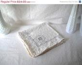ON SALE 50% OFF Vintage Napkins Vintage Linen Napkins Embroidered Linen Napkins