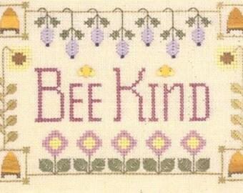 Cross Stitch Pattern, Bee Kind Counted Cross Stitch Pattern, by Elizabeth's Needlework Designs, WI