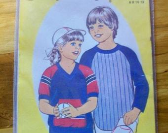 SEWEASY 110 child's  baseball jersey sewing pattern