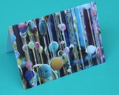 Dangling Necklaces Notecard