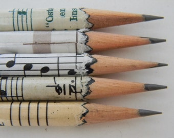 Music sheet Hand wrapped pencils