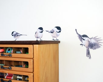 Wall sticker with Chickadees
