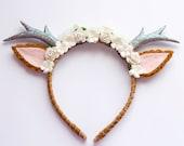 Natural Floral Deer Headband