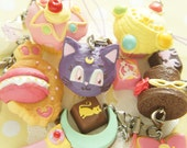 6 pcs Sailor moon Crystal / Sweets Charm AZ163