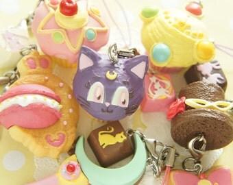 6 pcs Sailor moon Crystal / Sweets Charm AZ163 (((LAST/ no restock)))