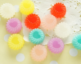12 pcs Jelly Cabochon (18mm) CD614