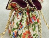 Folk Art Flowers Jewerly Bag: Anti Tarnish Jewelry Bag Pouch