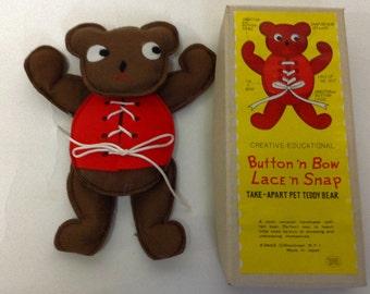 Vintage Education take-apart Teddy Bear in Original box