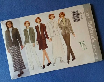 Jacket, Skirt, and Pants Pattern - Uncut Butterick Classics Sewing Pattern 5085 - Misses'/Misses' Petite sizes 6 8 10 12