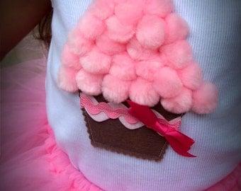 Cute cupcake BIrthday tank top any colors